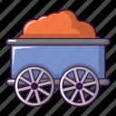 car, cartoon, railroad, retro, technology, train, wagon