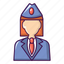 business, cartoon, conductor, hand, person, train, woman