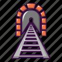 arch, cartoon, railway, road, stone, tunnel, vi36