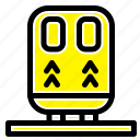 back, railway, train, transportation icon