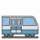 station, train, vehicle, transportation