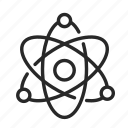 atoms, college, education, learning, school, training, university icon