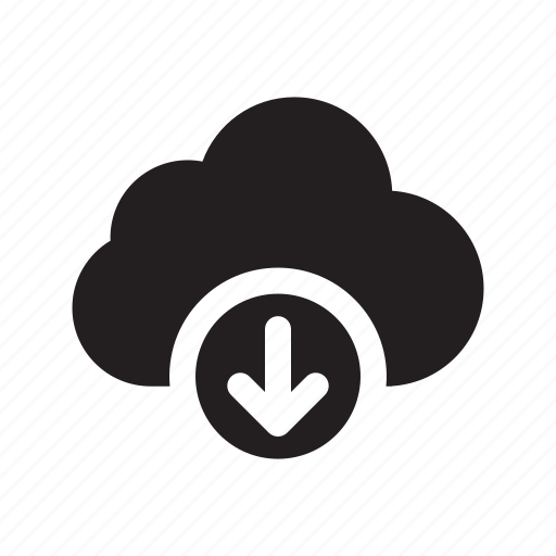 arrow, cloud, down, download, technology, transfers icon