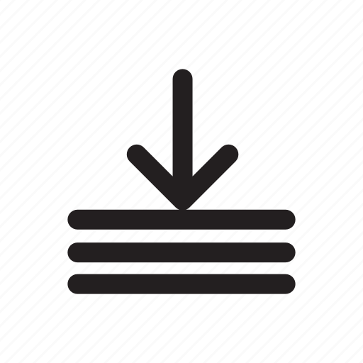 arrow, down, download, lines, technology, transfers icon