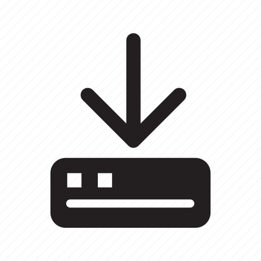 arrow, down, download, modem, technology, transfers icon