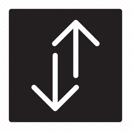 arrows, down, seperating, transfers, up icon
