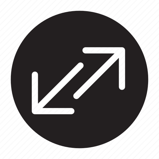 arrows, down, left, right, seperating, transfers, up icon