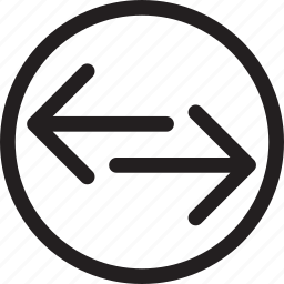 arrow, circle, direction, left, right, transfer icon