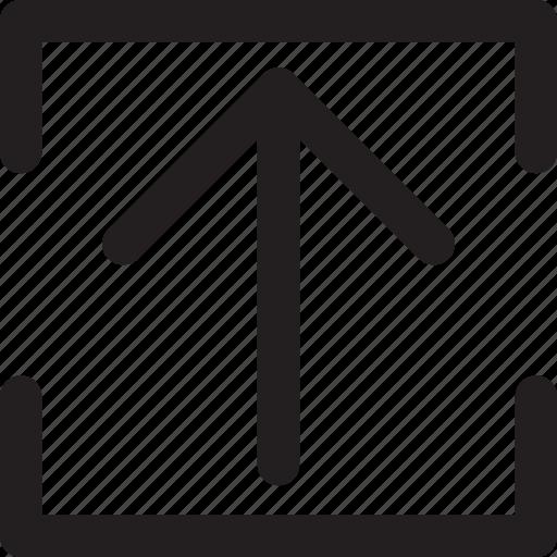 arrow, square, transfer, up, upload icon
