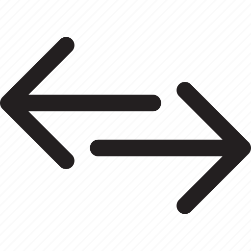 arrows, direction, left, right, transfer icon