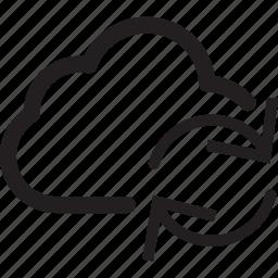 arrow, clockwise, cloud, refresh, transfer icon
