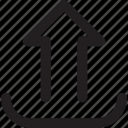 arrow, transfer, up, upload icon