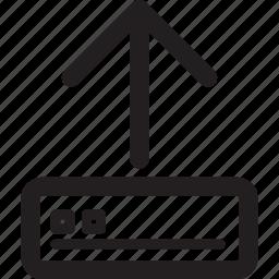 arrow, server, transfer, up, upload icon