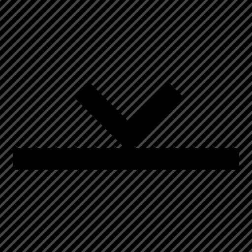 align, arrow, bottom icon