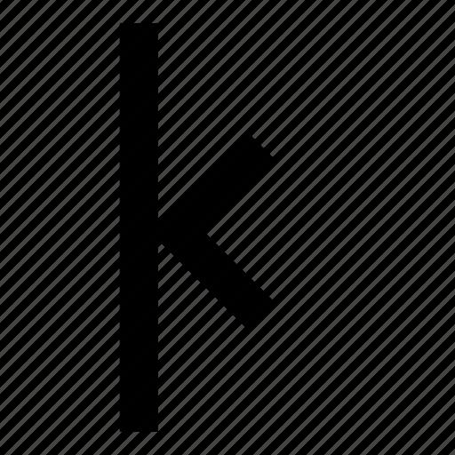 align, arrow, left, to icon