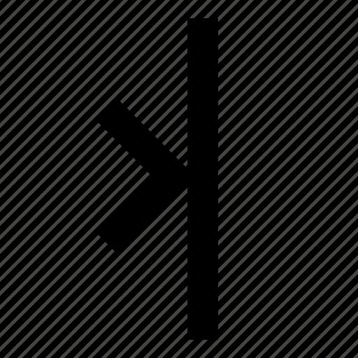 align, arrow, right, to icon