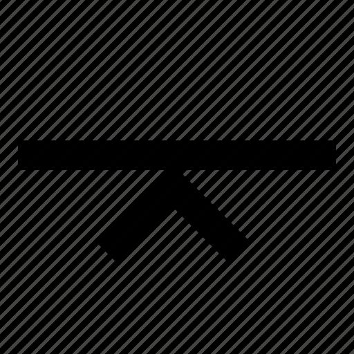 align, arrow, to, top icon