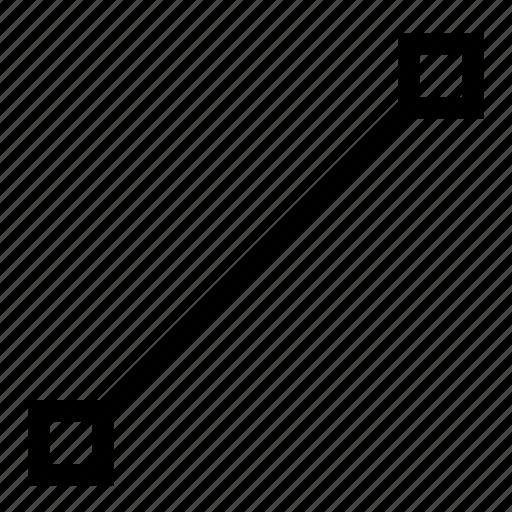 line, spline, vector icon