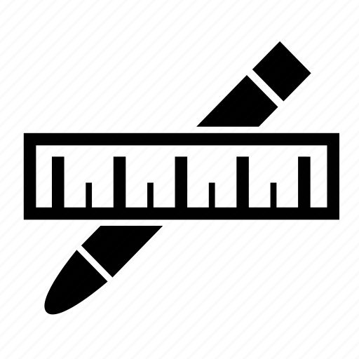 create, edit, measure, pen, ruler icon