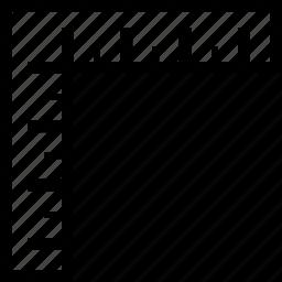 digital, measure, ruler, screen icon