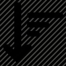 ascending, sort icon