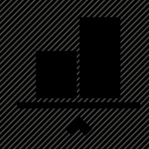align, bottom, object, transform icon