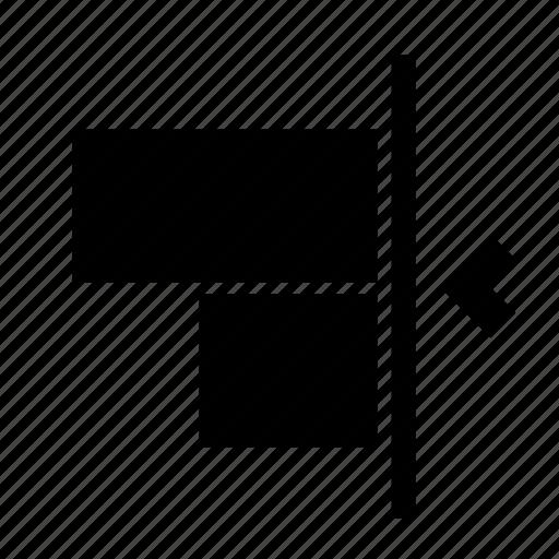 align, object, right, transform icon