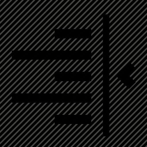 align, right, text, transform icon