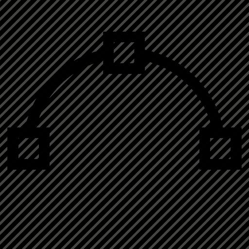 arc, spline, transform, vector icon