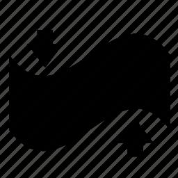 effect, flag, photoshop, transform icon