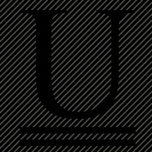 double, formatting, text, transform, underline icon