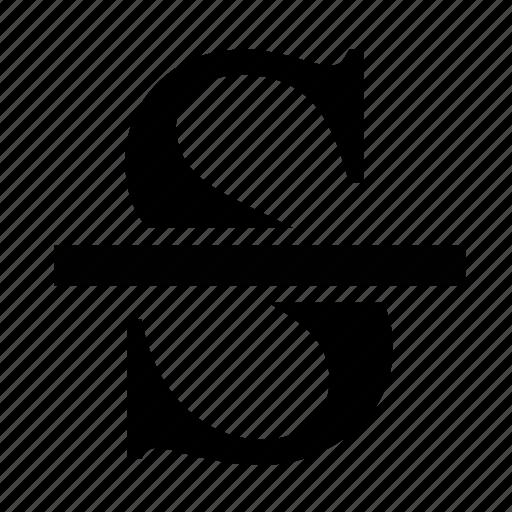 formatting, strikeout, text, transform icon