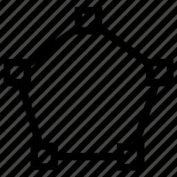 pentagon, spline, transform, vector icon