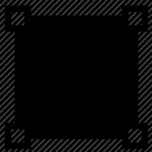 opaque, spline, square, transform, vector icon