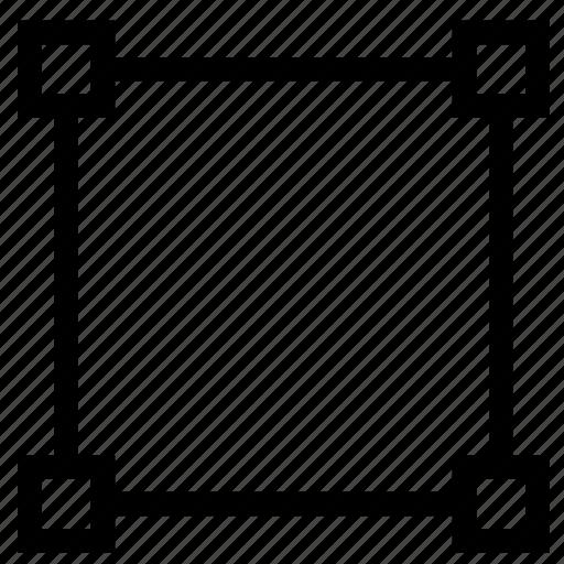 spline, square, transform, vector icon