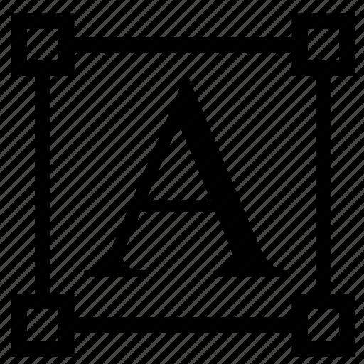 scale, text, transform icon