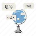 asia, business, cartoon, collection, communication, translation, world icon