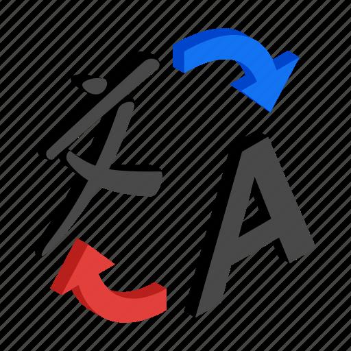 international, isometric, language, speak, translate, translation, translator icon