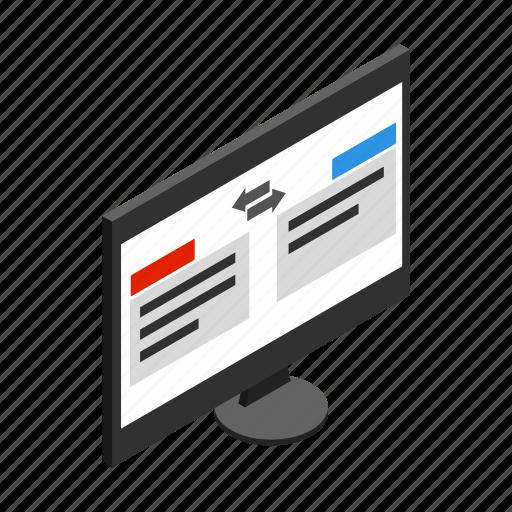 Computer, concept, internet, isometric, pc, translation, translator icon - Download on Iconfinder