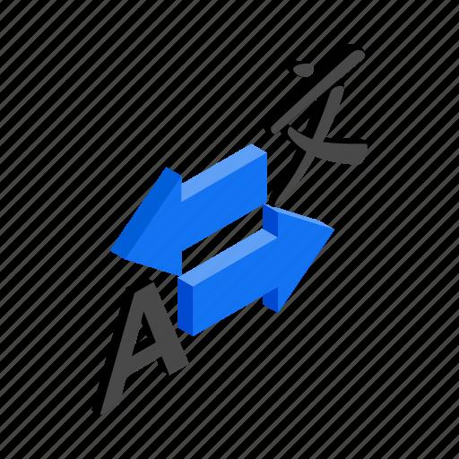 International, isometric, language, speak, translate, translation, translator icon - Download on Iconfinder