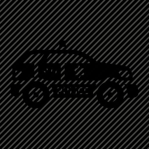 car, cop, patrol, police, transport icon