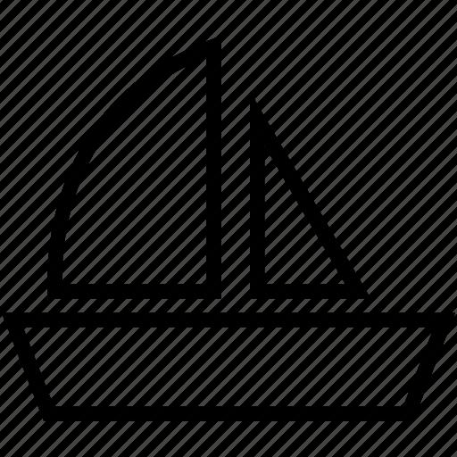 boat, cruise, sailboat, vessel, yacht icon