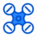 aerial, air, device, drone, fly, gadget, quadcopter icon