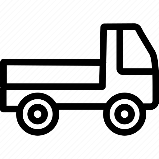 delivery, flatbed lorry, transport, vihicle icon