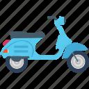 motorbike, motorcycle, retro motorcycle, vespa scooter, vintage vespa icon