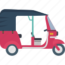 asian vehicle, auto, rickshaw, transport, travel icon