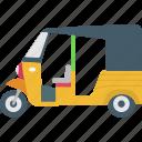 asian vehicle, autorickshaw, rickshaw, transport, travel icon