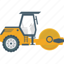 artchitcher, bulldozer, construction vehicle, road construction, tyrant icon