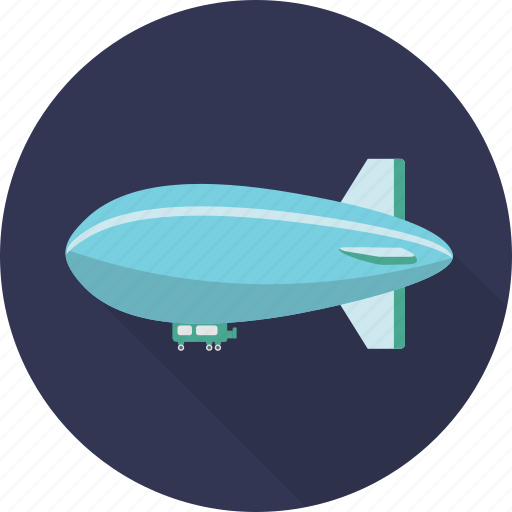 air, airship, balloon, blimp, plane, sky, transport icon