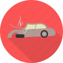 accident, broken car, car, crash, engine, transport, vehicle icon